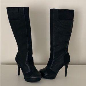 Jessica Simpson knee high heeled boots sz 6.5